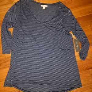 Nordstrom Signature Medium Thin striped 3/4 sleeve